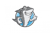 Thumbs Up Shark Logo