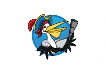 Pelican Pirate Logo
