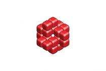 3d Faceted Cubes Logo