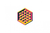 Hexagonal 3d...