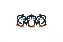 Cute Penguins Logo