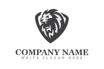 Aggressive Lion Logo