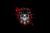 Gas Mask Skull Logo