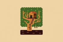 Cute Tree House Logo