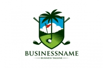 Palm Tree Golf Logo