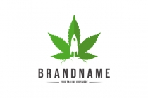 Marijuana Rocket Logo