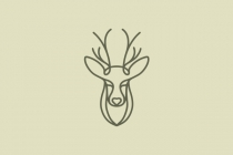 Deer Love Linear Logo
