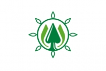 Eco Trees Sun Logo
