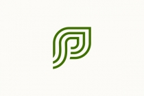 Letter P Green Plant...