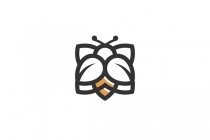 Bee On Flower Logo