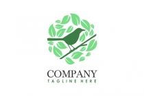 Bird In Nature Logo