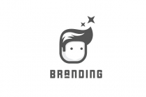 Cute Barber Kid Logo