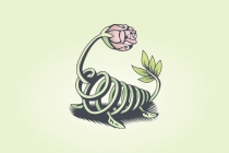 Vine Rose Lizard Logo