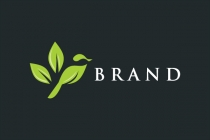 Bird With Leaves Logo