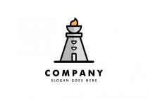 Flame Lighthouse Logo