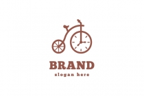 Bicycle Clock Logo