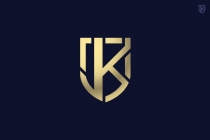 JK shield monogram...