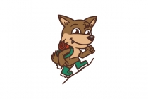 Hiking Coyote Logo