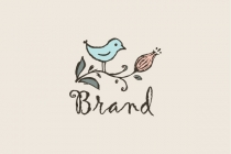Bird And Flower Logo