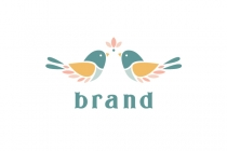 Birds And Flower Logo