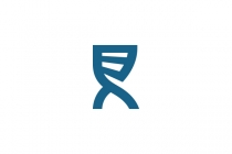 Letter R And Dna Logo