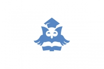 Owl And Book Logo