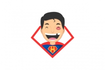 Happy Superhero Logo