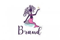 Pink Mermaid Logo