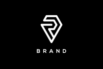 Letter R Diamond Logo