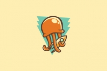 Jellyfish Rocket Logo