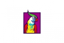 Clown Parrot Logo