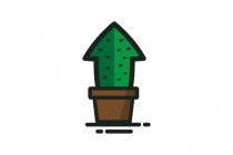 Cactus Growth Arrow...