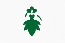 Dress Green Leaf Logo