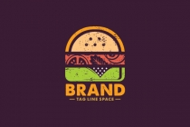 Retro Burger Logo