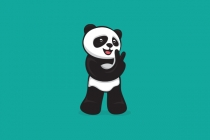 Cool Panda With V...