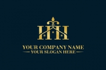Letter Hh Home Logo