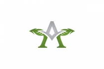 Letter A Leaves Logo