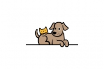 Dog And Cat Cartoon...