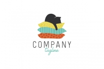 Cat On Pillows Logo