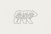 Bear With Plants Logo