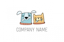 Quirky Cat  Dog Logo