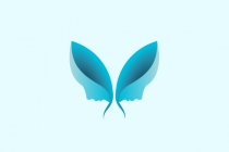 Butterfly Faces Logo
