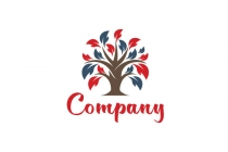 Red Blue Tree Logo