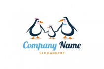Penguin Family Logo