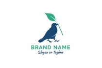 Bird With Leaf Logo