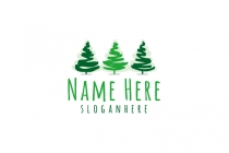 Pine Tree Sketch Logo