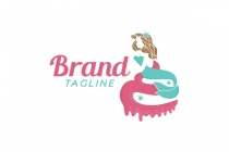 Mermaid Cupcake Logo