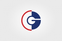 Letters CG or GC Logo