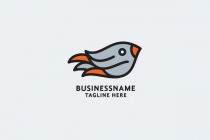 Cute Flying Bird Logo