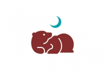 Bear Laying Down Logo